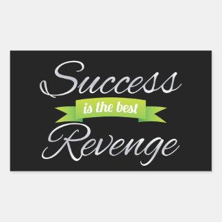 El éxito es la mejor venganza pegatina rectangular