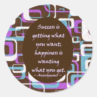 El éxito es… Pegatina
