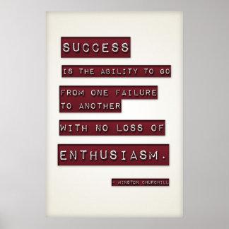 El éxito es… (Plantilla grande Editable) Póster