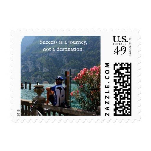 El éxito es un viaje sello postal