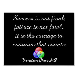 El éxito no es final - arte del poster