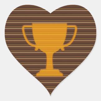 El éxito NVN278 del ganador de la taza del premio  Calcomanía Corazón