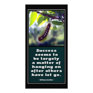 El éxito parece ser… Tarjeta de la foto Tarjeta Personal Con Foto