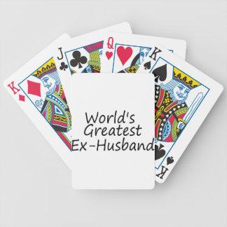 el exmarido más grande de los mundos barajas de cartas