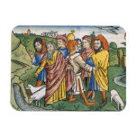 El éxodo 17 1-7 Moses hace la corriente de Iman Rectangular