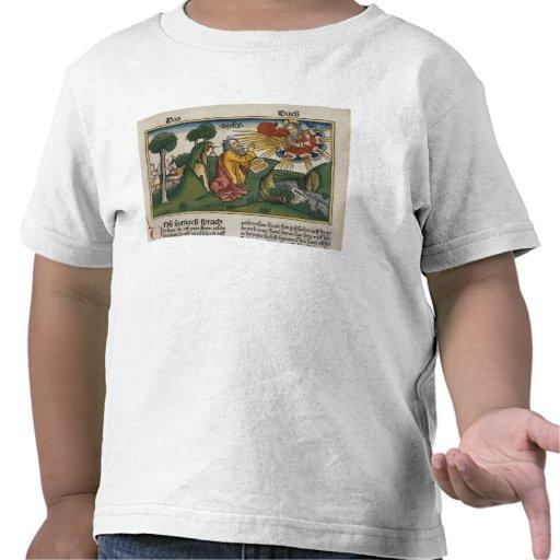 El éxodo 34 1-10 Moses recibe las segundas Camisetas