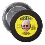 El expediente de Joe Biden Pin Redondo De 3 Pulgadas