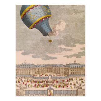 El experimento de aerostación en el castillo postal