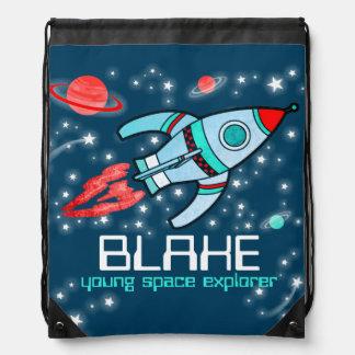 El explorador de espacio conocido del cohete mochilas