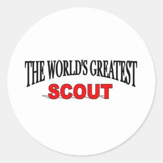El explorador más grande del mundo etiqueta redonda