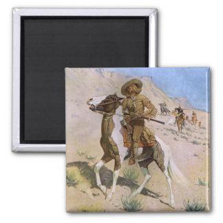 El explorador por Remington, vaqueros de la Imán Cuadrado