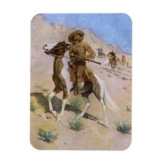 El explorador por Remington, vaqueros de la Imán Foto Rectangular