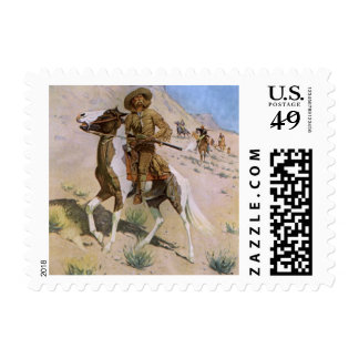 El explorador por Remington, vaqueros de la Sello
