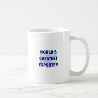 El exportador más grande del mundo tazas de café