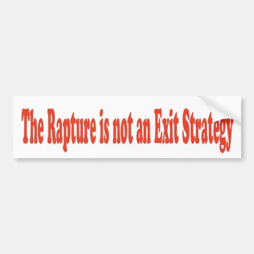 El éxtasis no es una estrategia de salida etiqueta de parachoque