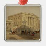El exterior de la casa de Apsley, 1853, por J. Adorno Navideño Cuadrado De Metal