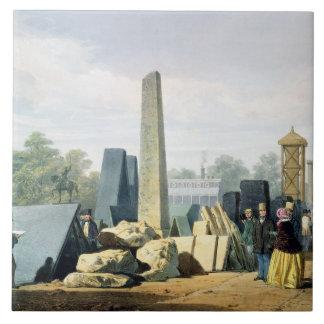 """El exterior, de """"Pict completo de Dickinson Azulejo Cuadrado Grande"""
