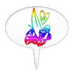 el exterme se divierte el arco iris gradient.png decoración de tarta