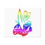 el exterme se divierte el arco iris gradient.png impresión en lona estirada