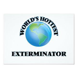 El Exterminator más caliente del mundo Invitación 12,7 X 17,8 Cm