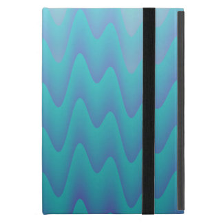 El extracto agita azules turquesas iPad mini protectores