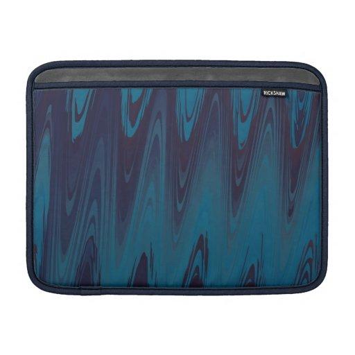 El extracto agita en azul funda  MacBook