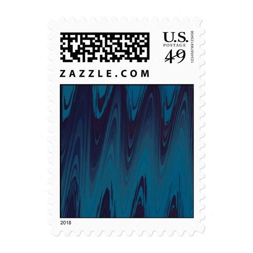 El extracto agita en azul sellos postales
