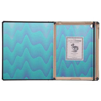 El extracto agita en turquesa iPad carcasas