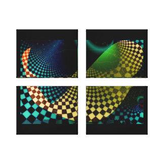 El extracto ajusta la lona envuelta reacción lienzo envuelto para galerias