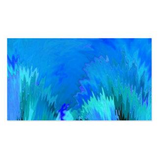 El extracto azul crea su propia tarjeta de visita