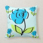 El extracto azul lindo florece la almohada de MoJo