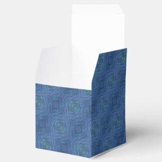 El extracto azul pattren caja para regalos