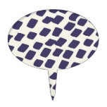 El extracto azul púrpura moderno ajusta el animal  decoración para tarta