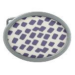 El extracto azul púrpura moderno ajusta el animal  hebillas de cinturon