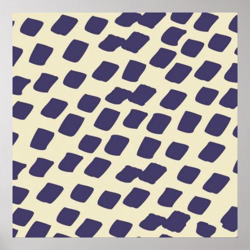 El extracto azul púrpura moderno ajusta el animal  impresiones