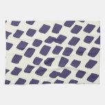 El extracto azul púrpura moderno ajusta el animal  toallas de mano
