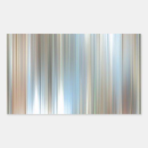 El extracto colorea el espejo rectangular pegatina