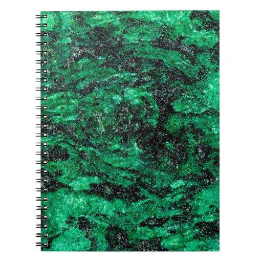 El extracto colorea el mármol verde libreta