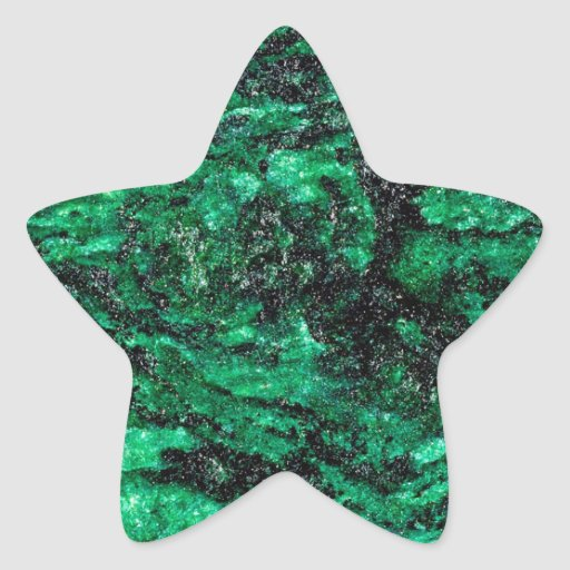 El extracto colorea el mármol verde colcomanias forma de estrellaes