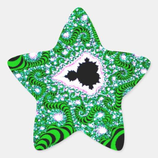 El extracto colorea gusanos verdes pegatina forma de estrella personalizada