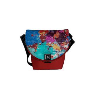 El extracto colorea la bolsa de mensajero bolsas messenger