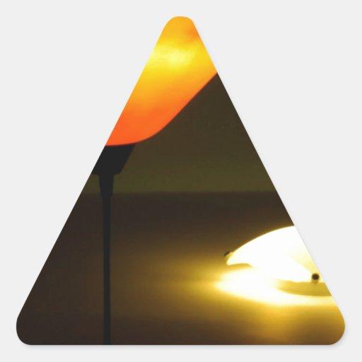 El extracto colorea la lámpara Brights Pegatina Triangular