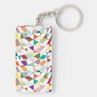 El extracto colorea la tapicería llavero rectangular acrílico a doble cara