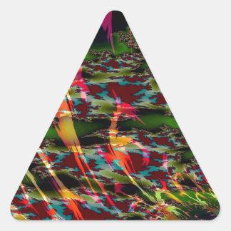 El extracto colorea las natillas oscuras pegatina triangular