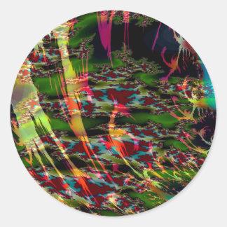 El extracto colorea las natillas oscuras pegatina redonda