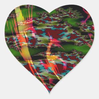 El extracto colorea las natillas oscuras pegatina en forma de corazón