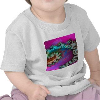 El extracto colorea los brazos galácticos camisetas