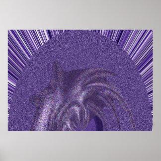 El extracto colorea púrpura poster