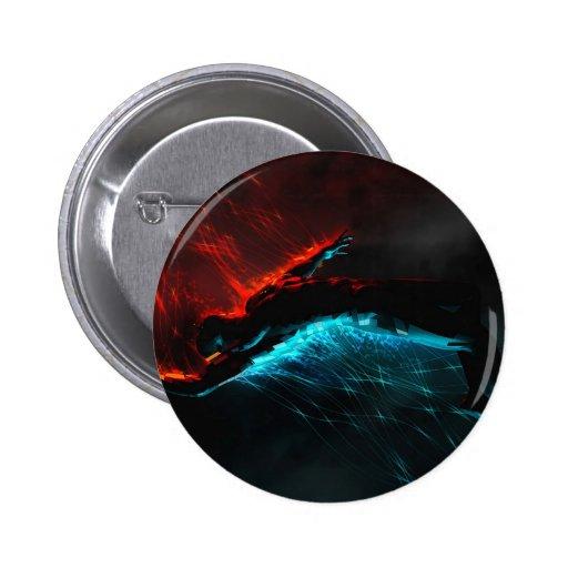 El extracto colorea visiones azules rojas pin redondo 5 cm