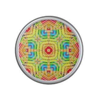 El extracto coloreado dibujó a lápiz fractal altavoz